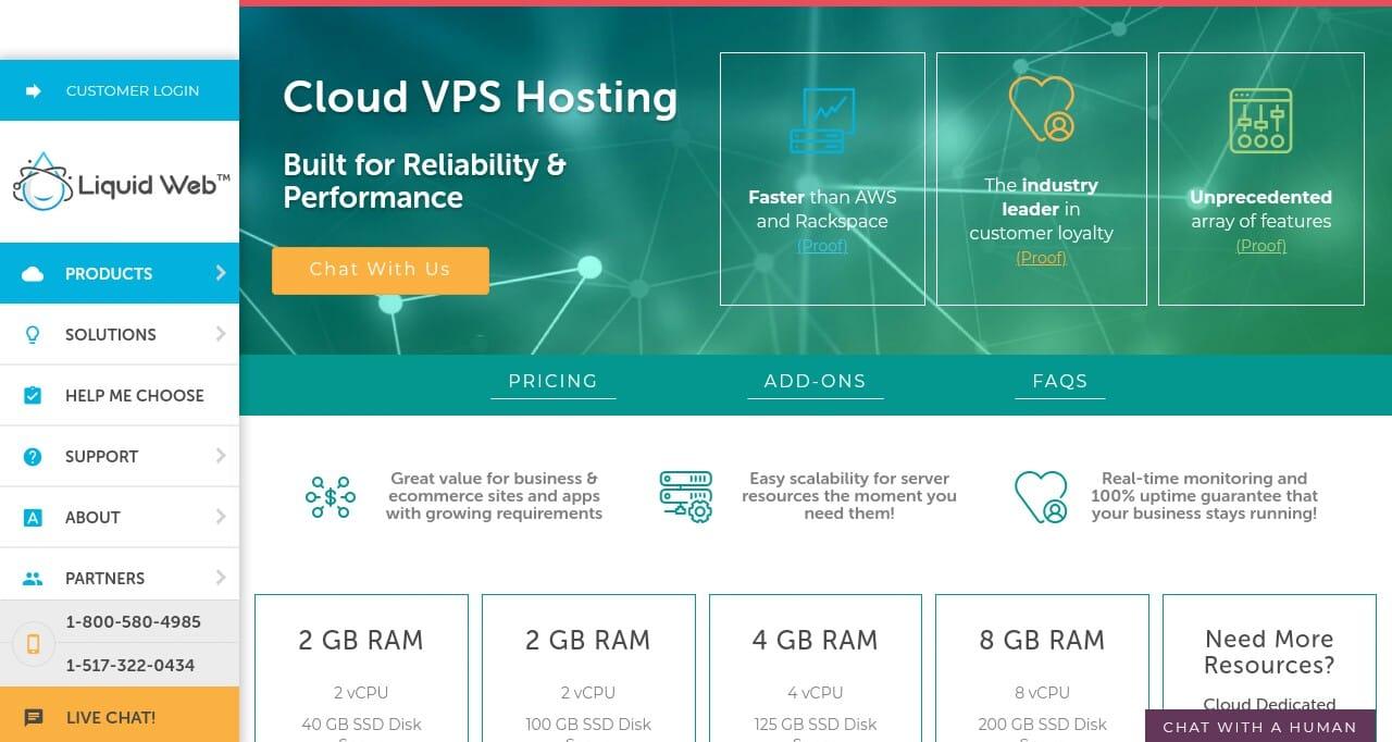 Liquidweb Best Cloud VPS Hosting Service