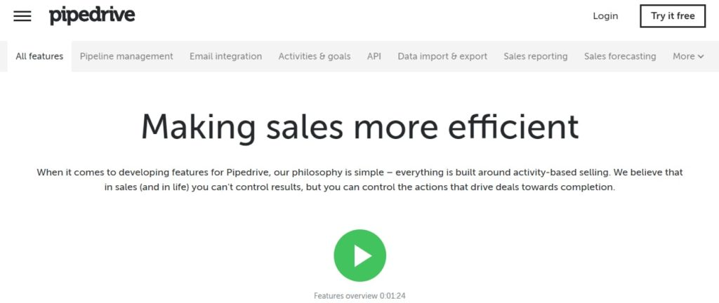 Pipedrive CRM Software