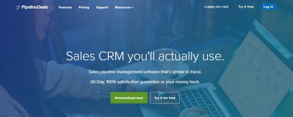 Pipelinedeals CRM-Software