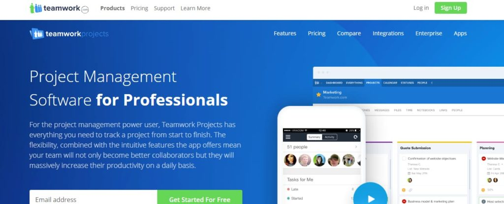 TeamWork project management tool