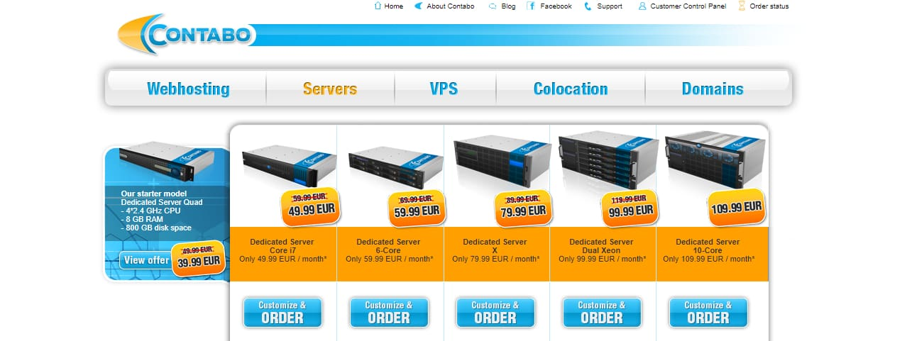 Contabo dedicated servers