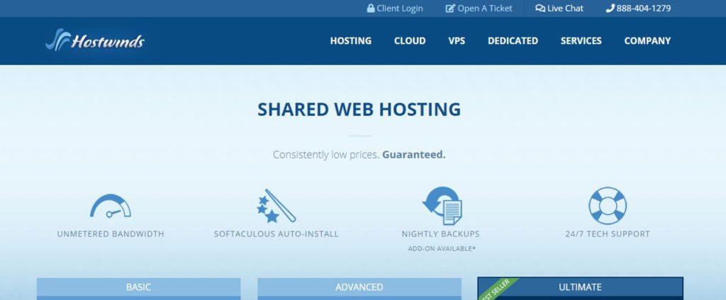 Hostwinds Cheapest Website Hosting USA