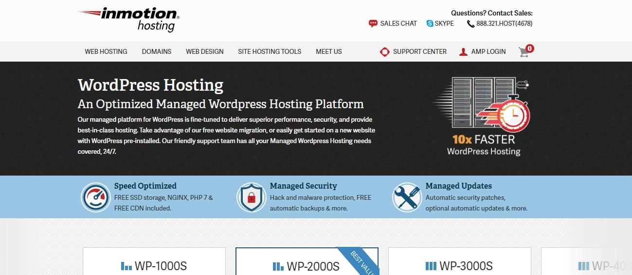 InmotionHosting best wordpress hosting